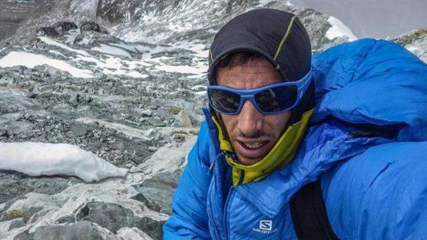 Autoscatto di Kilian all'Everest (foto carreraspormontana)