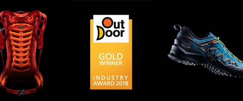 La scarpa Wildfire Edge e lo zaino Apex Wall di Salewa vincono l'Outdoor Gold Award