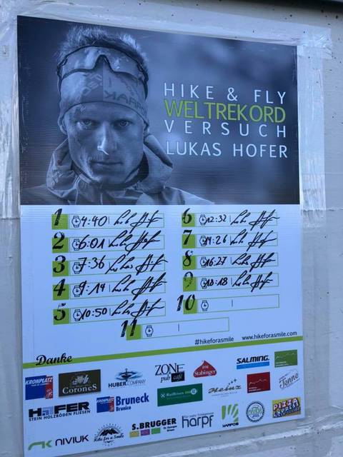 Lucas Hofer record Hike&Fly (foto fb hofer)