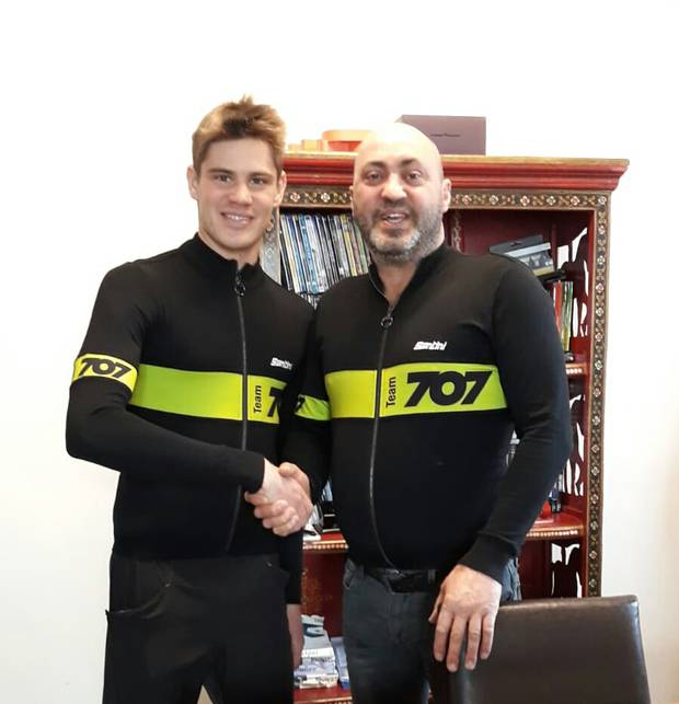 Marcello Ugazio con Germano Raddi del 707 Team
