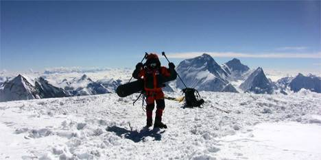 Marco Galliano in vetta al Cho Oyu