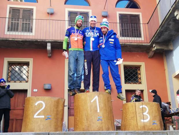 Podio maschile Campionati Italiani Winter Triathlon Entracque (foto fitri)