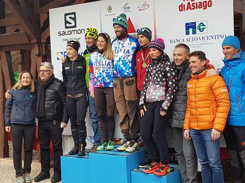 Podio maschile e femminile Campionato Italiano Winter Triathlon