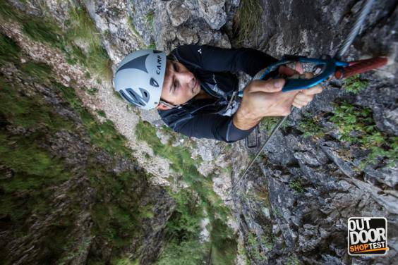 Via Ferrata all'Outdoor Shop Test